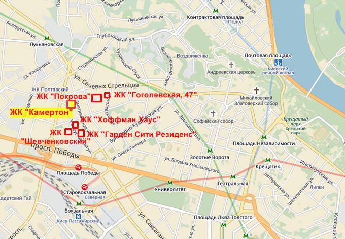 ЖК Камертон на карте