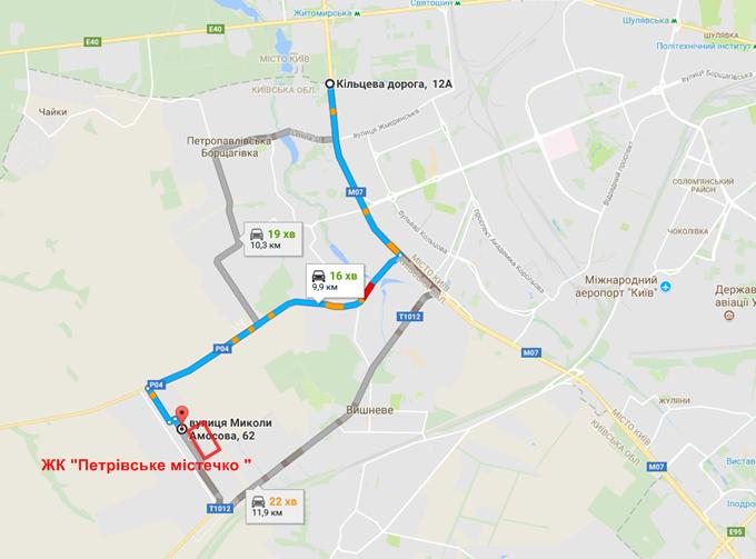 ЖК Петровский городок маршруты в Святопетровкое