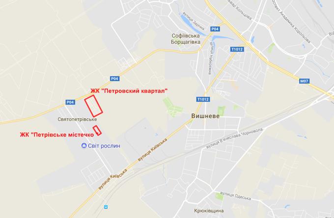 ЖК Петровский городок на карте
