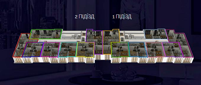 ЖК Реситаль поэтажный план первого дома