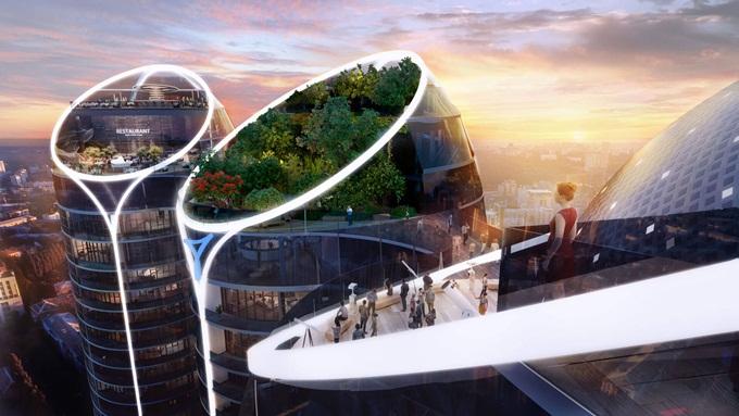 ЖК Taryan Towers крыши