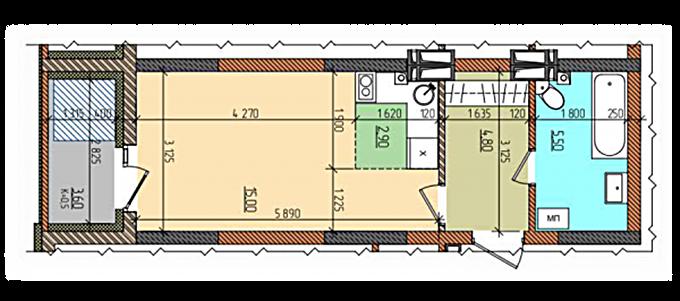 Смарт-квартира в доме Д-10 ЖК «Акварели-2»
