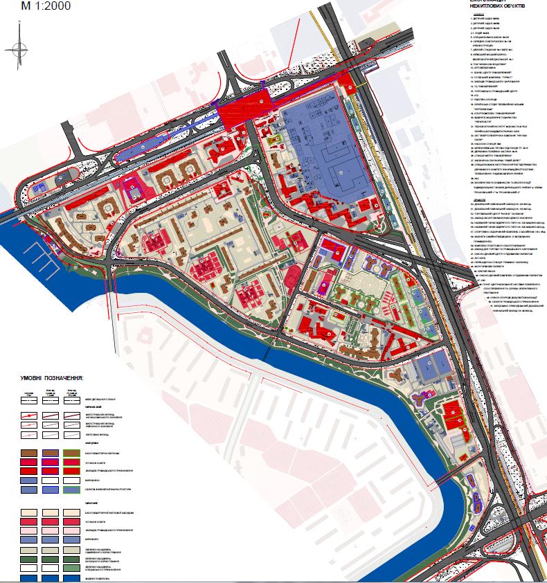 Проектный план ДПТ Броварским проспектом и проспектом Соборности