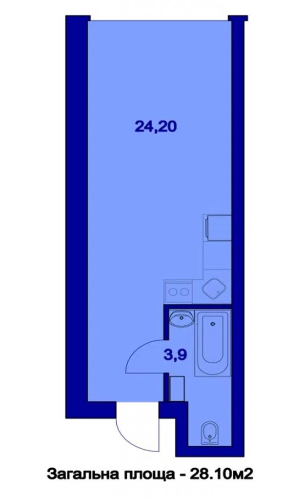 Выгодный пригород ЖК Милые квартиры планировка однокомнатной квартиры