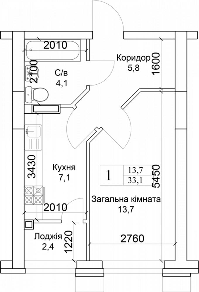 ЖК «Благород» в Крюковщине планировка квартиры