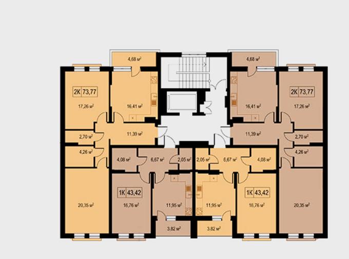 ЖК Einstein Concept House поэтажный план