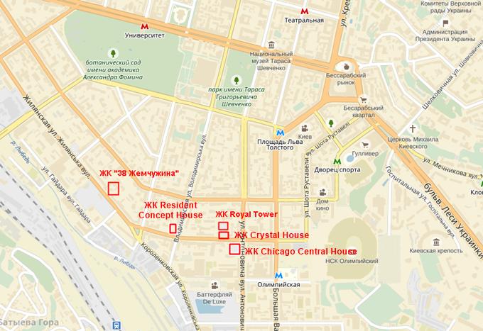 ЖК Рещидент Концепт Хаус на карте