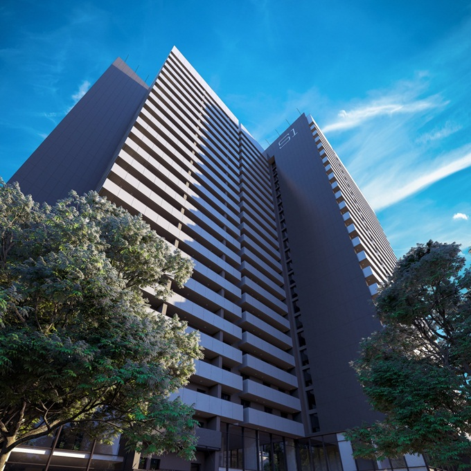 ЖК Standard One фасад с открытыми балконами