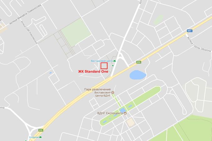 ЖК Standard One на карте