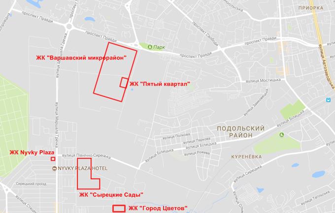 ЖК Сырецкие Сады от Интергал Буд на карте