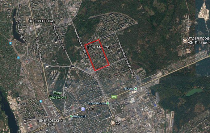 ДПТ микрорайон Лесной массив карта