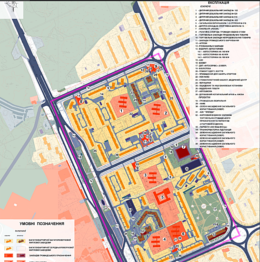 ДПТ микрорайон Лесной проектный план