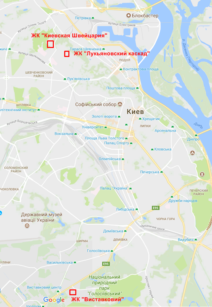 Перспективные новостройки Intergal Bud на карте