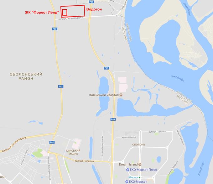 Перспективный ЖК Forest Park на карте