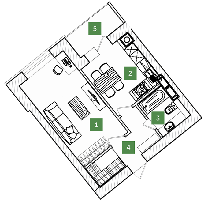 ЖК Лесная сказка вариант планировки квартир