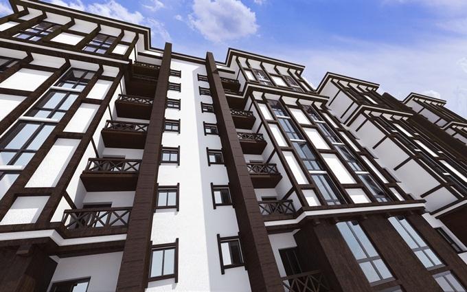 ЖК Мюллер Хаус внешний вид балконы