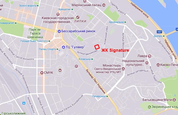 ЖК Signature на Мечникова на карте