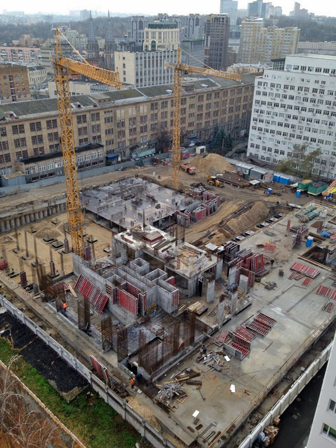 ЖК Тетрис Холл ход строительства второй очереди