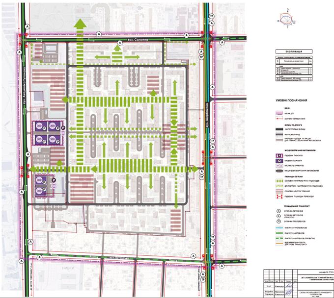ДПТ Нивок на Туполева проектный план дорожно транспортной инфраструктуры микрорайона
