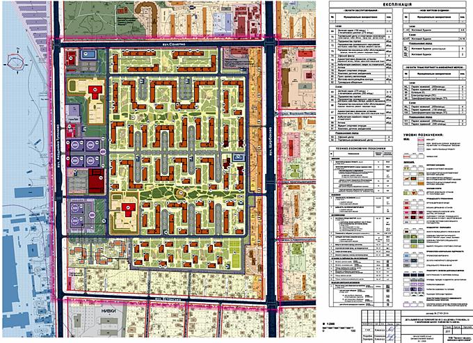ДПТ Нивок на Туполева проектный план микрорайона