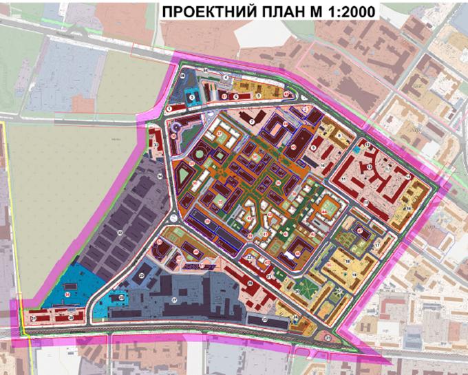 ДПТ промзона на Дегтяревской проектный план