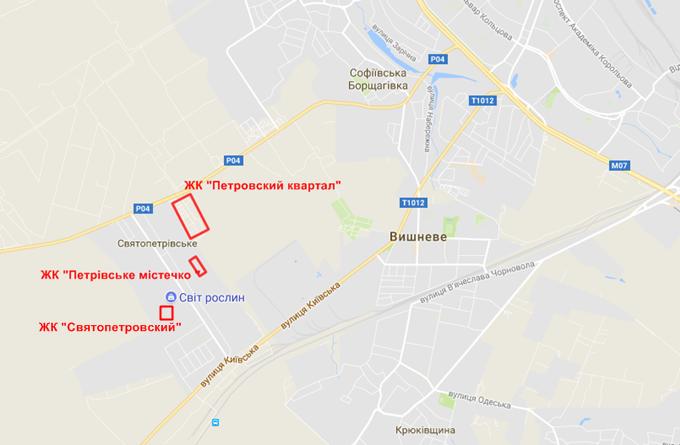 ЖК Святопетровский на карте