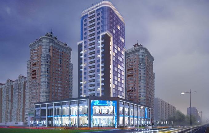 Новостройки синей ветки метро ЖК Смарт плаза оболонь на Минской