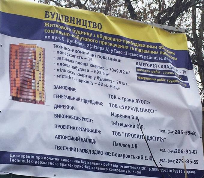 ЖК Голосеевский дворик строительный паспорт