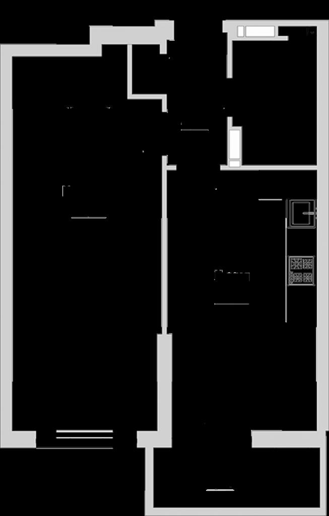 ЖК Голосеевский дворик вариант планировки однокомнатной квартиры