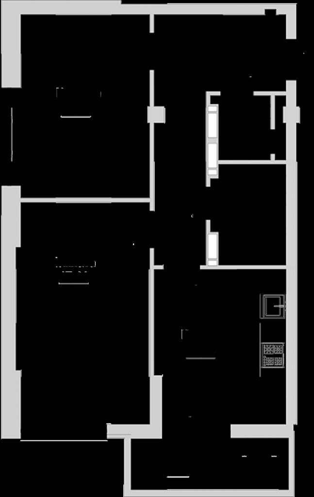 ЖК Голосеевский дворик вариант планировки двухкомнатной квартиры