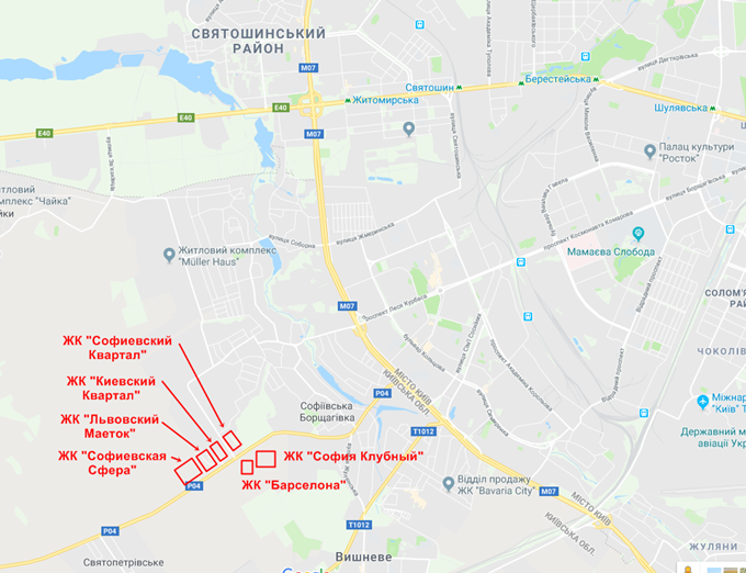 ЖК Софиевский квартал карта