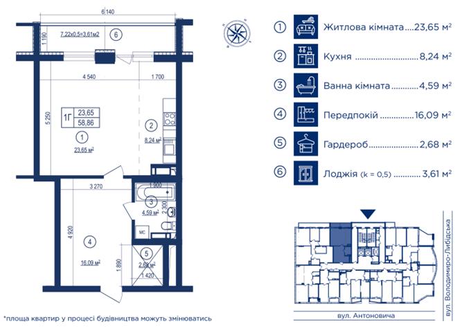 ЖК Владимирский вариант планировки квартиры студии