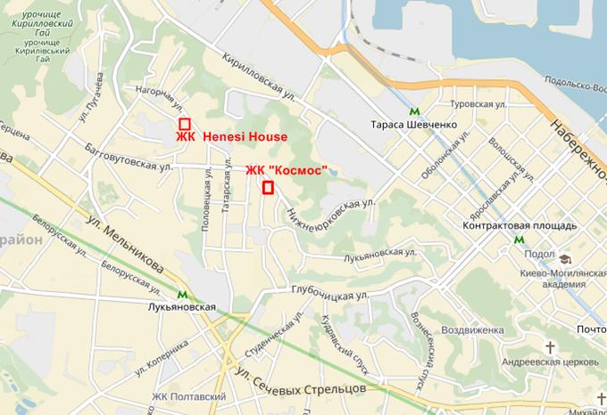 жк космос карта