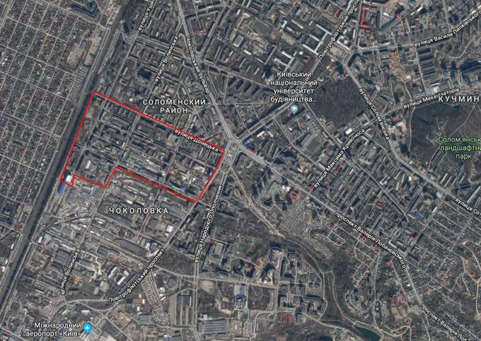 ДПТ микрорайон Чоколовка на карте