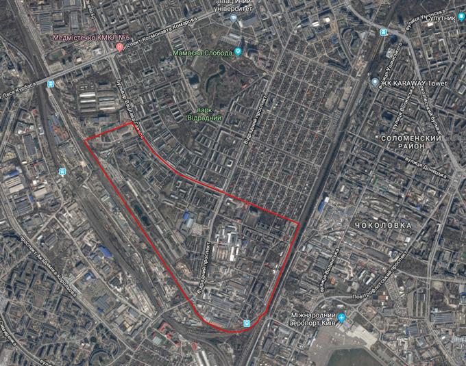 ДПТ микрорайон на Отрадном на карте