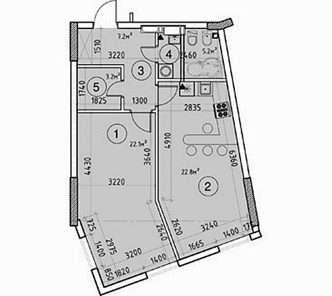 ЖК Гринвиль парк вариант планировки квартиры