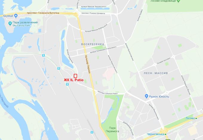 ЖК Иль Патио Радужный на карте