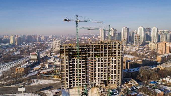 ЖК Новопечерська вежа Панорама ход строительства комплекса