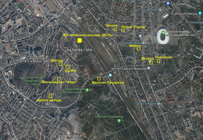 ЖК Нововокзальная 69-75  инфраструктура