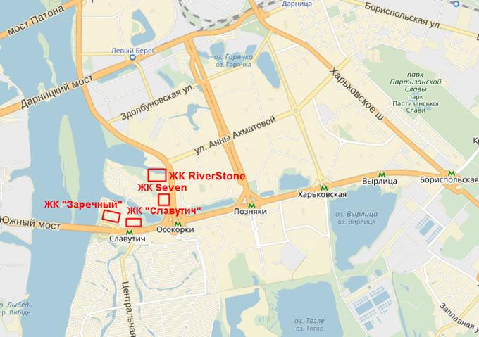 ЖК Ривер Стоун на карте