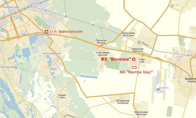 ЖК Веселка Гора на карте