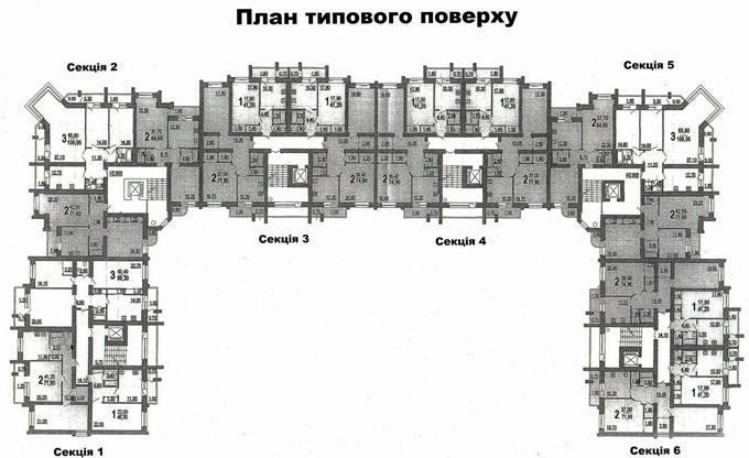 ЖК Веселка Гора поэтажный план первого дома