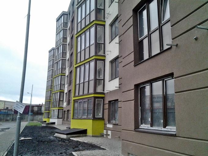 ЖК Велкам хоум на Стеценко фасад третьего дома