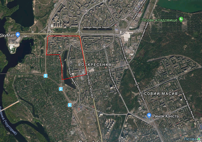 ДПТ Радужный массив на карте