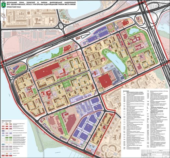 ДПТ микрорайон Позняки промзона проектный план