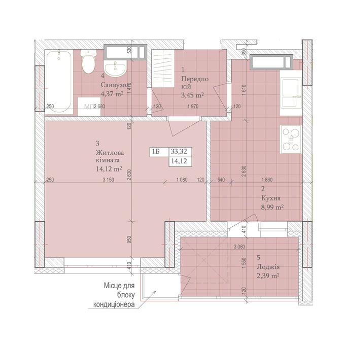 Самые недорогие квартиры столицы ЖК Днепровская мечта планировка однокомнатной квартиры