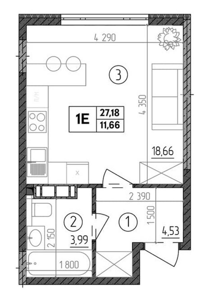 Самые недорогие квартиры столицы ЖК Прага 2 планировка однокомнатной квартиры