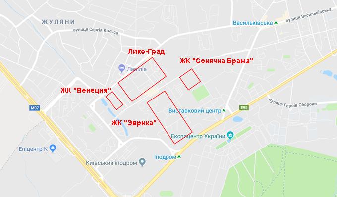 ЖК Эврика Теремки на карте