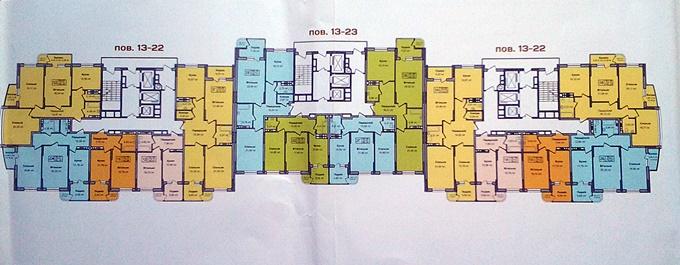 ЖК Министерский поэтажный план четвертого дома