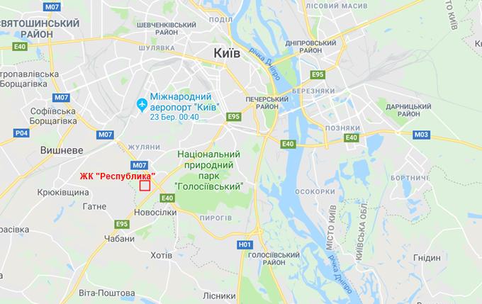 ЖК Республика Голосеево на карте